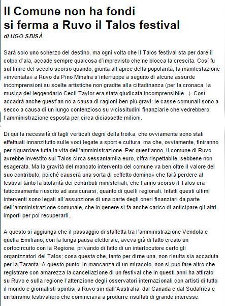 Sbisà_La Gazzetta del Mezzogiorno